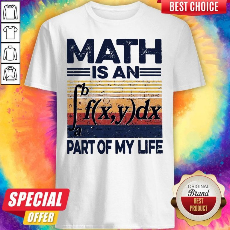 Funny Math Is An Part Of My Life Vintage Shirt