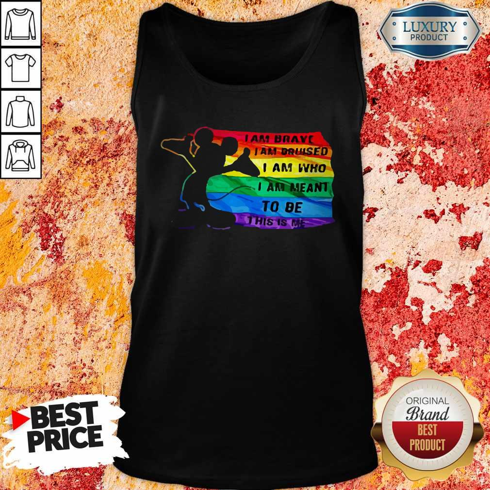 Funny Mickey LGBT I Am Brave I Am Bruised Tank Top