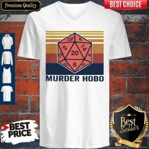 Funny Murder Hobo Vintage V-neck