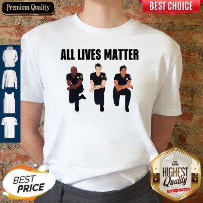 Nice All Lives Matter Police Kneel Shirt