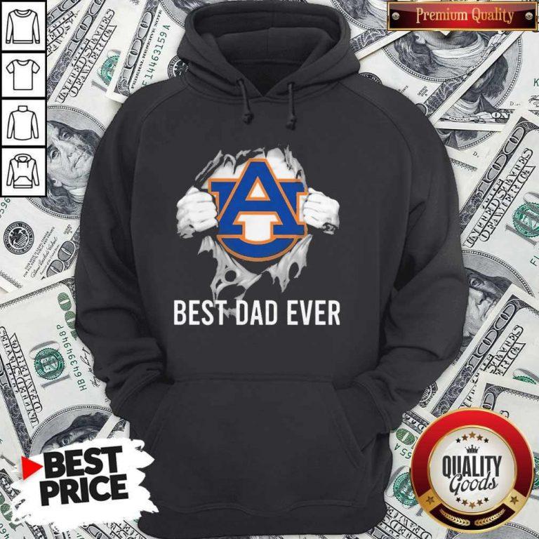 Nice Blood Inside Me Auburn Tigers Best Dad Ever Hoodie