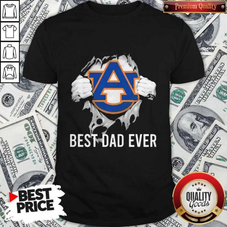 Nice Blood Inside Me Auburn Tigers Best Dad Ever Shirt