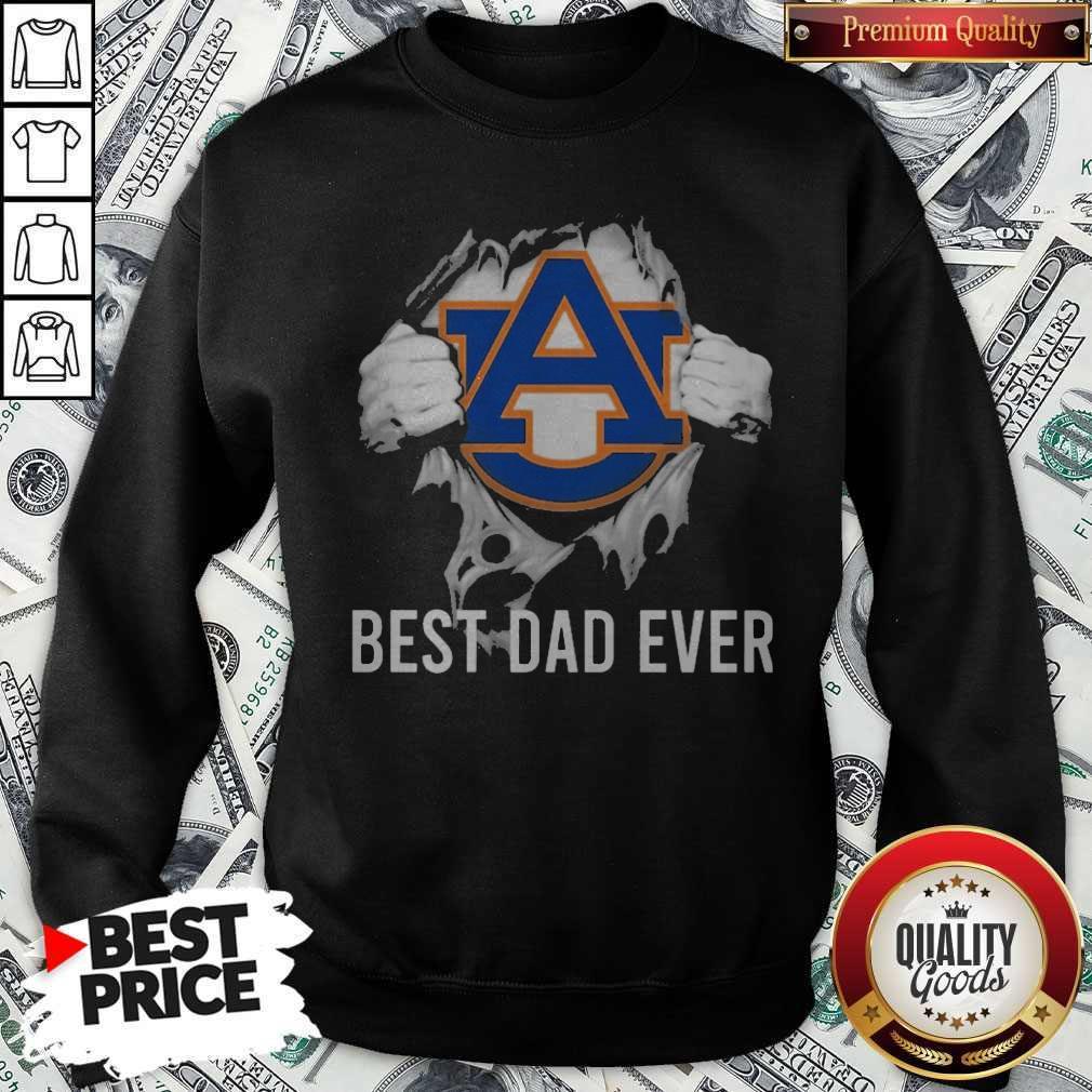 Nice Blood Inside Me Auburn Tigers Best Dad Ever Sweatshirt