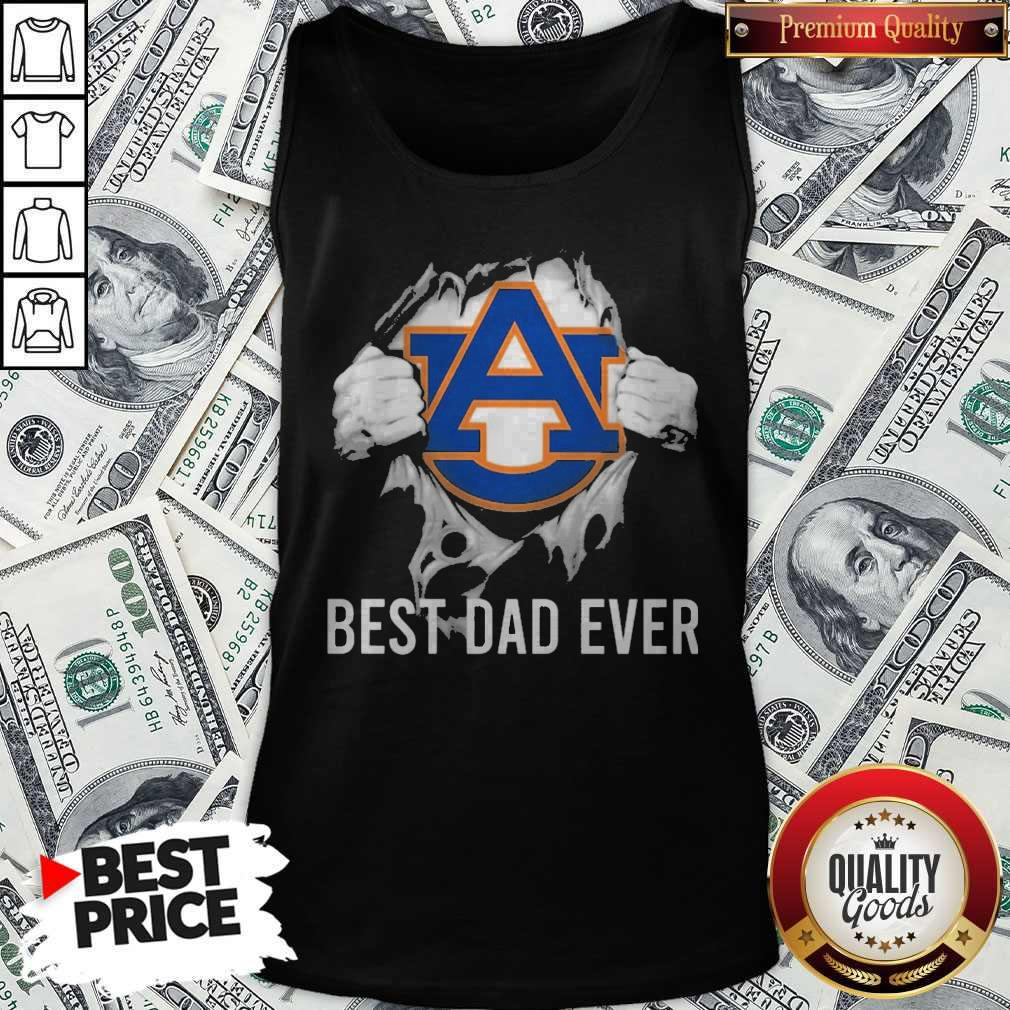 Nice Blood Inside Me Auburn Tigers Best Dad Ever Tank Top