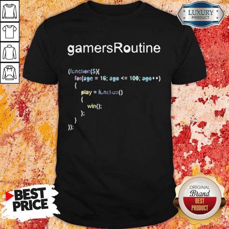 Nice GamersRoutine Code T-Shirt
