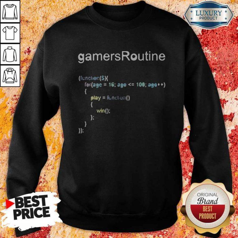 Nice GamersRoutine Code Sweatshirt
