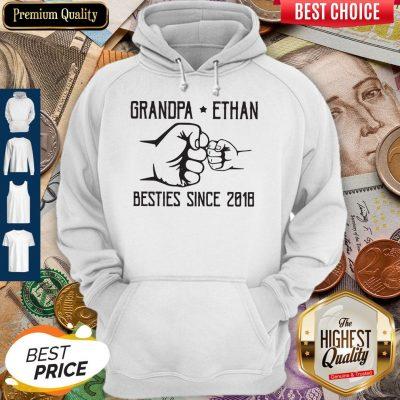Nice Grandpa Ethan Besties Since 2018 Vintage Hoodie