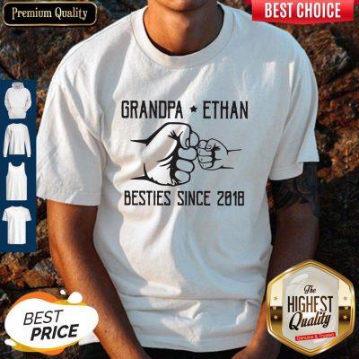 Nice Grandpa Ethan Besties Since 2018 Vintage Shirt