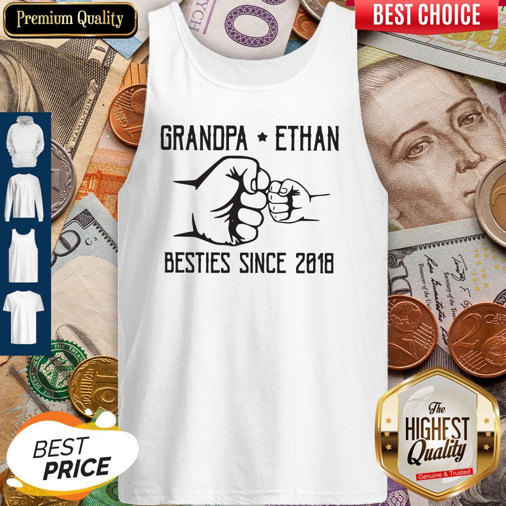 Nice Grandpa Ethan Besties Since 2018 Vintage Tank Top