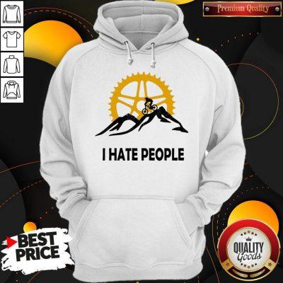 Nice I Hate People Mountain Biking Hoodie