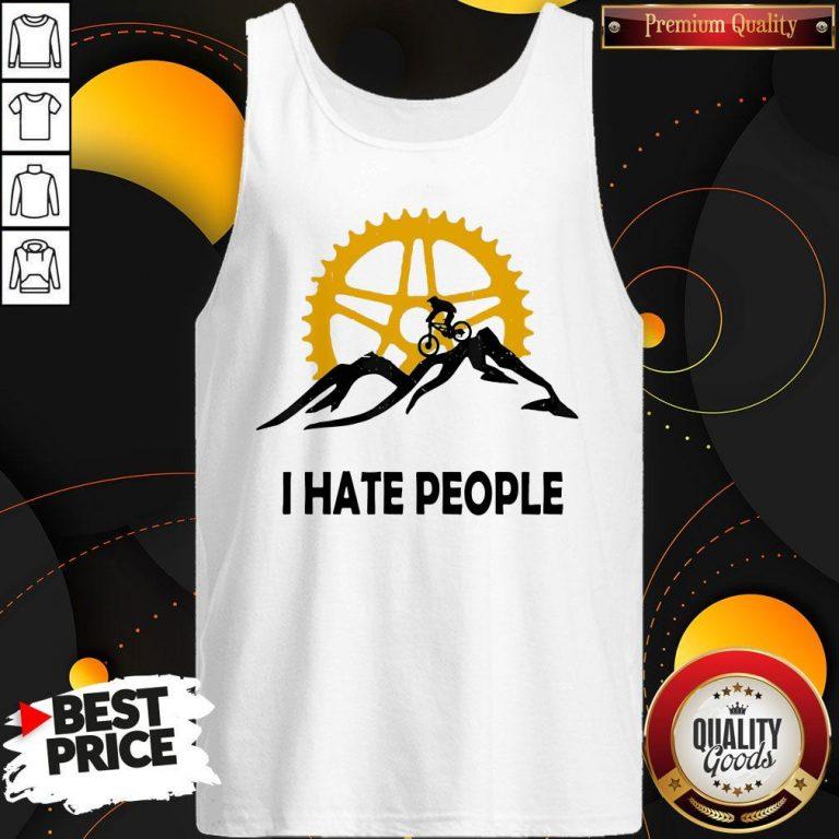 Nice I Hate People Mountain Biking Tank Top