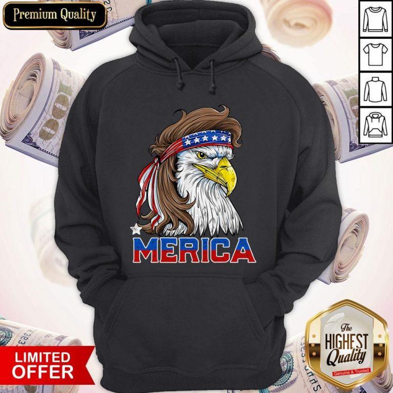 Nice Merica Eagle Happy Independence Day Hoodie