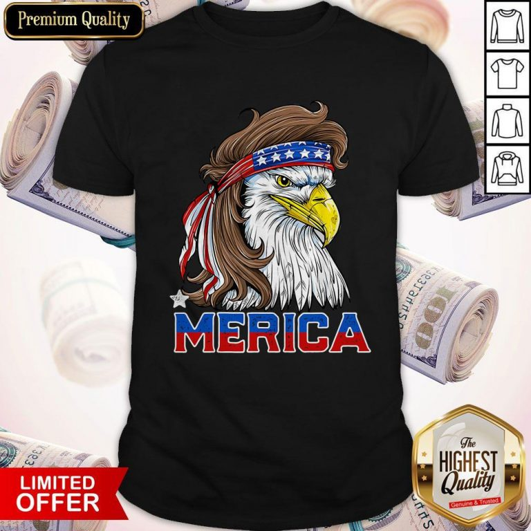 Nice Merica Eagle Happy Independence Day Shirt