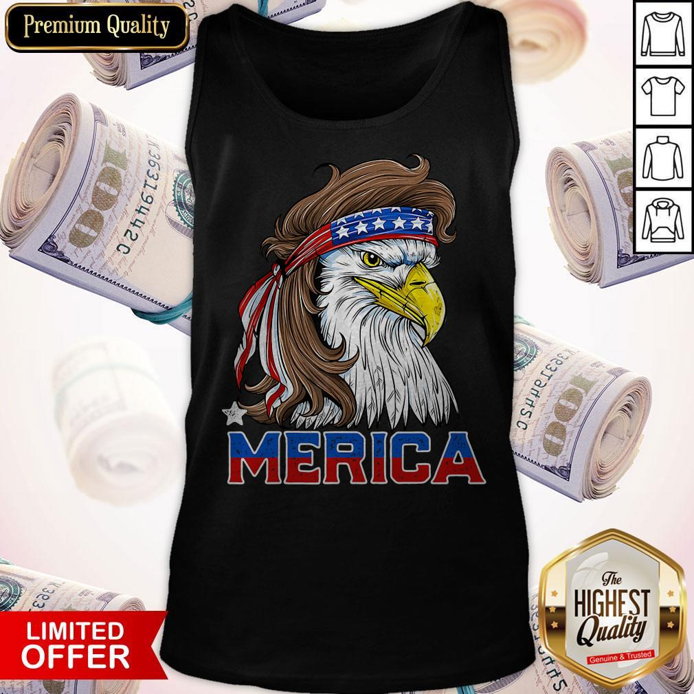 Nice Merica Eagle Happy Independence Day Tank Top