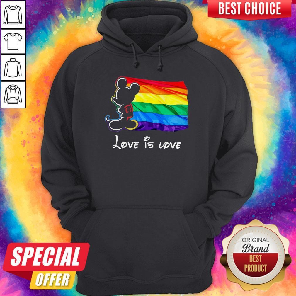 Nice Mickey Mouse Lgbt Pride Love Is Love Hoodie