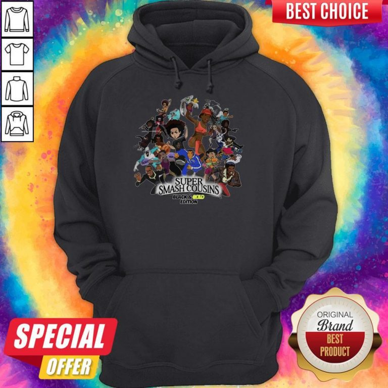 Nice Super Smash Cousins Black And Gold Edition Hoodie
