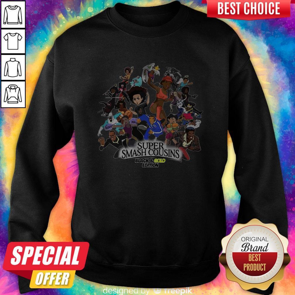 Nice Super Smash Cousins Black And Gold Edition Sweatshirt