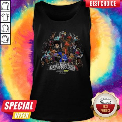 Nice Super Smash Cousins Black And Gold Edition Tank Top