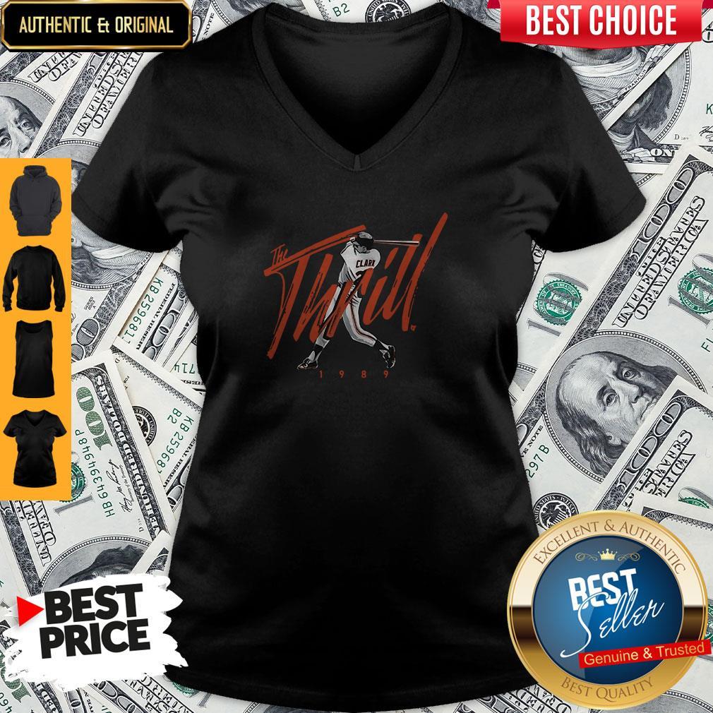 Nice Will Clark The Thrill 1989 V-neck