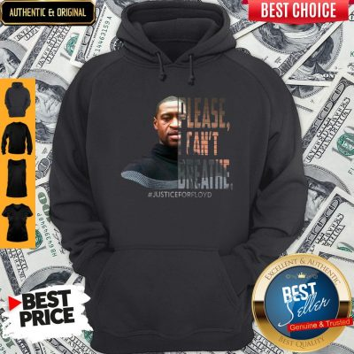 Official George Floyd Please I Can't Breathe Justice For Floyd Hoodie