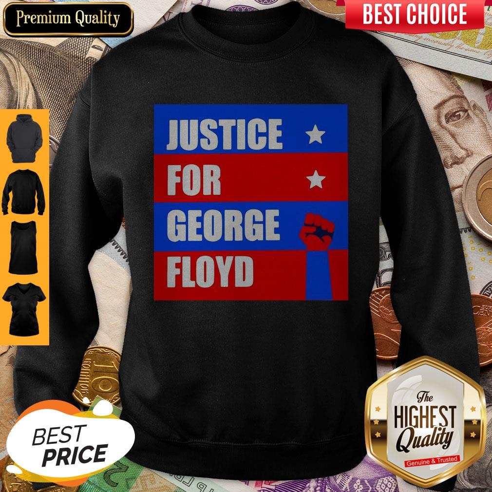 Official Justice For George Floyd T-Sweatshirt