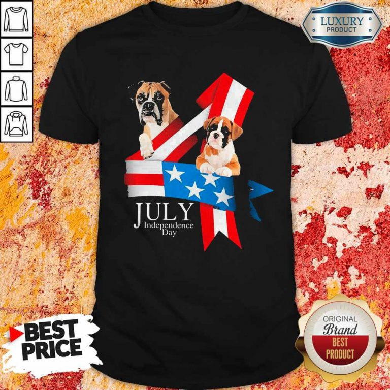 Premium Boxer Happy Independence Day T-Shirt