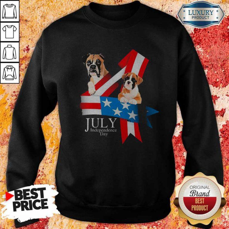 Premium Boxer Happy Independence Day Sweatshirt