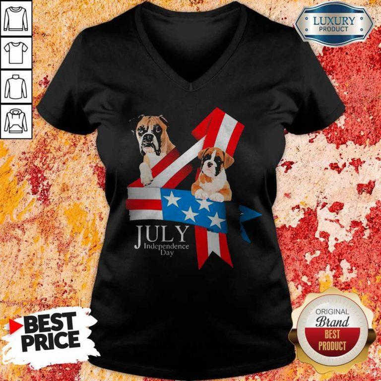 Premium Boxer Happy Independence Day V-neck