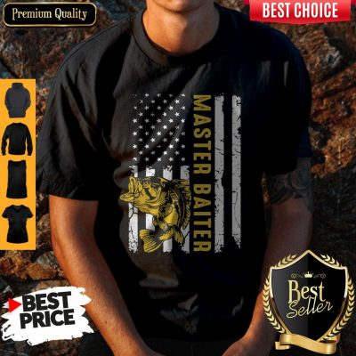 Premium Fishing Master Baiter American Flag Independence Day Shirt