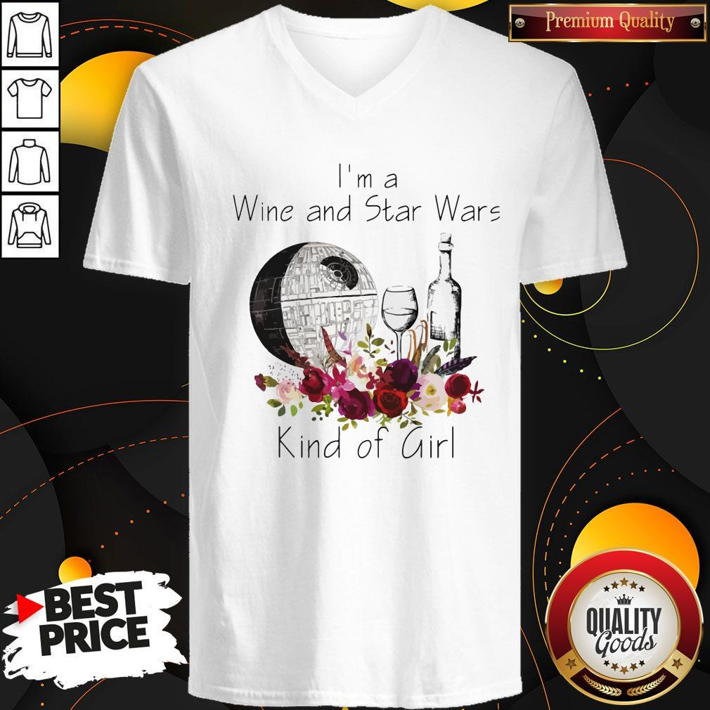 Premium I'm A Wine And Star Wars Kind Of Girl Premium I'm A Wine And Star Wars Kind Of Girl V-neck