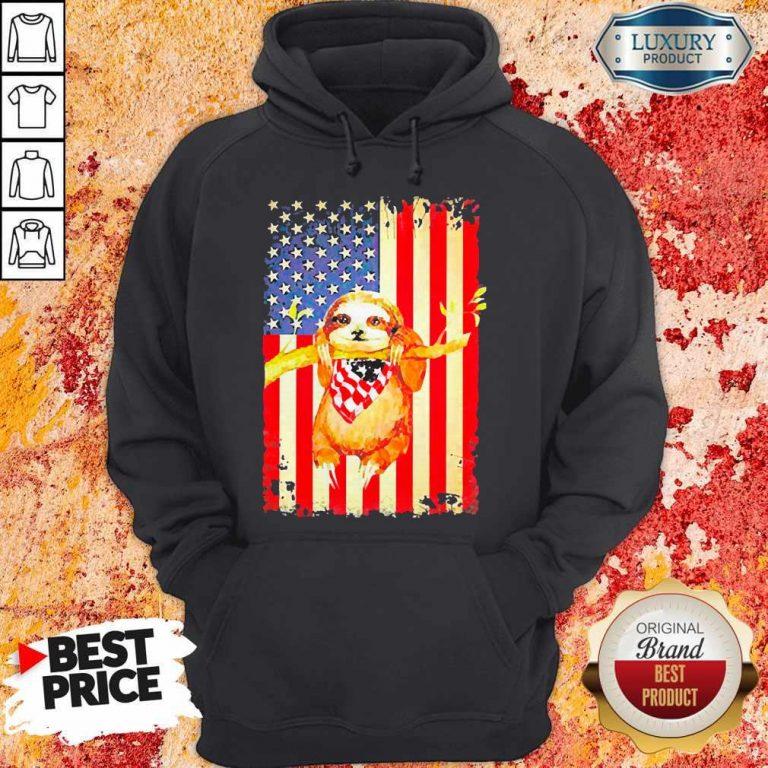 Premium Independence Day Sloth Hoodie