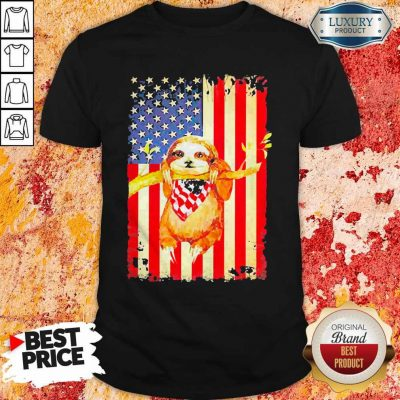 Premium Independence Day Sloth T-Shirt