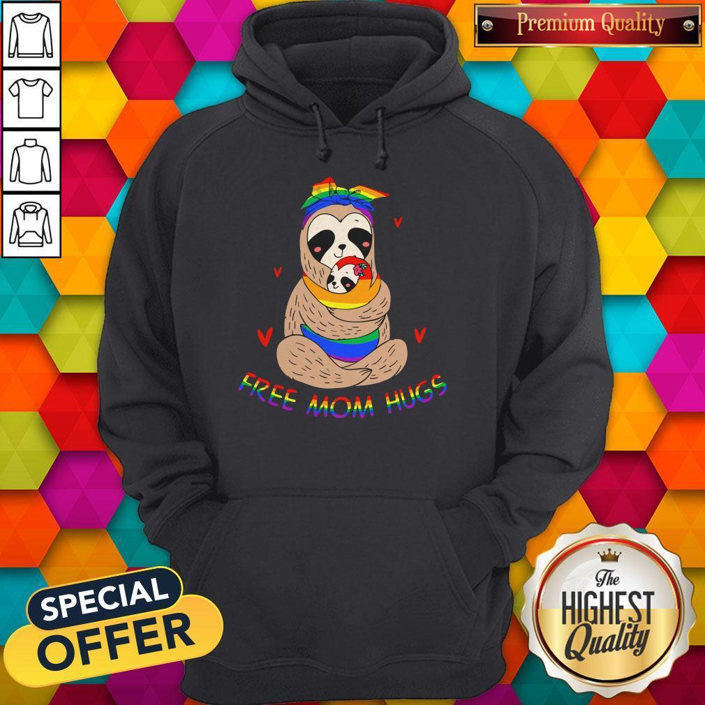 Premium LGBT Sloth Free Mom Hugs Hoodie