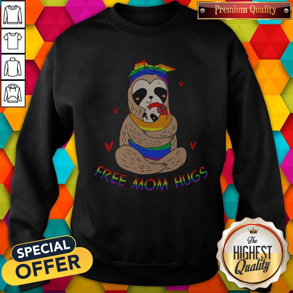 Premium LGBT Sloth Free Mom Hugs Sweatshirt