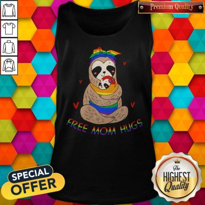 Premium LGBT Sloth Free Mom Hugs Tank Top