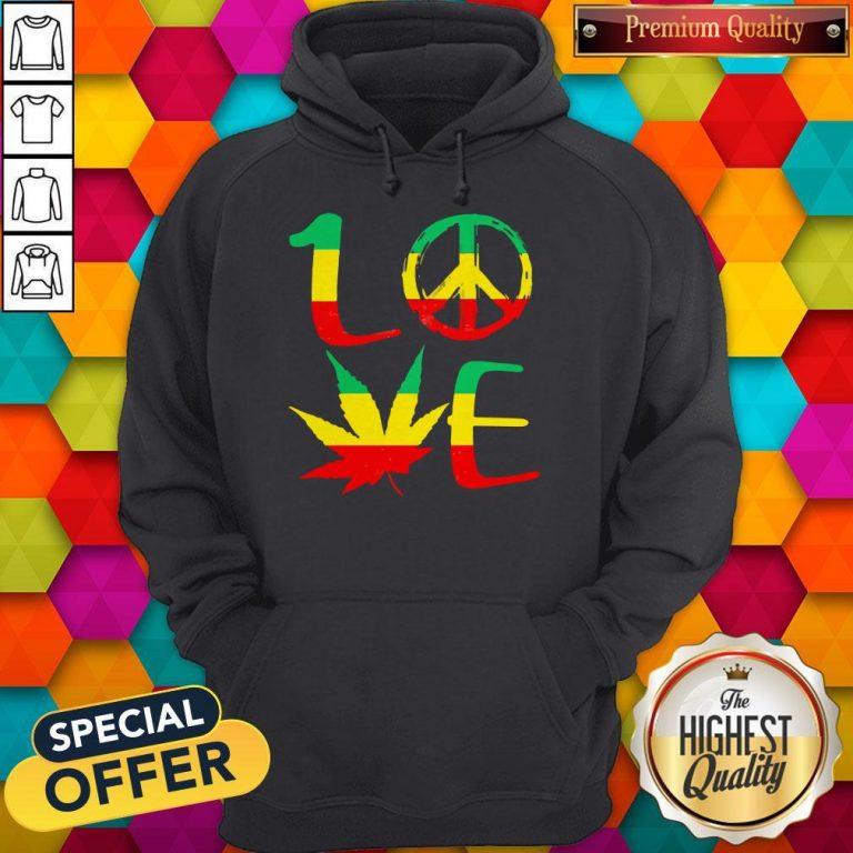Premium Love Marijuana Leaf LGBT Hoodie