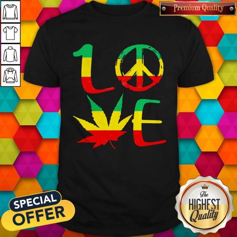 Premium Love Marijuana Leaf LGBT Shirt