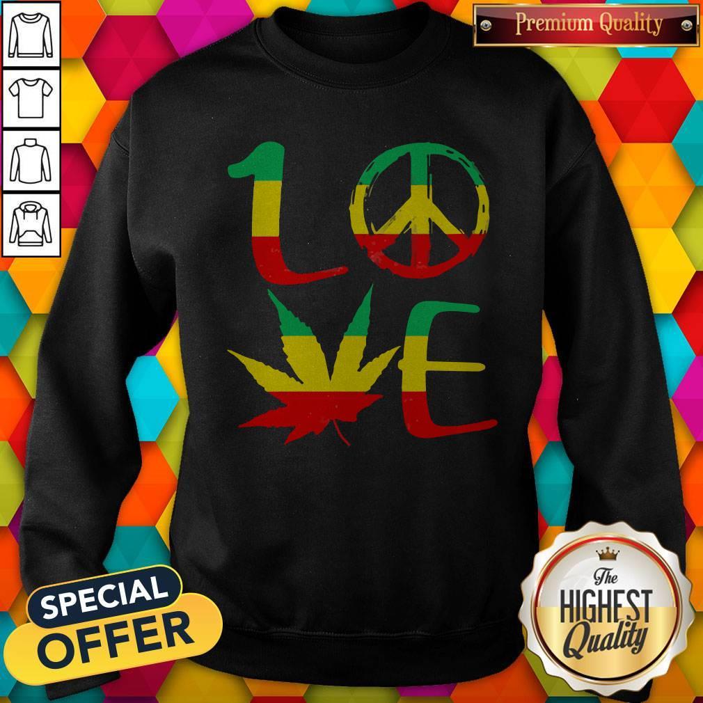 Premium Love Marijuana Leaf LGBT Sweatshirt