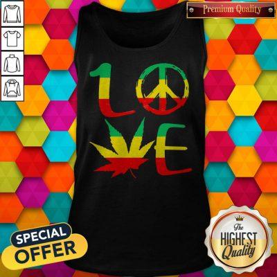 Premium Love Marijuana Leaf LGBT Tank Top