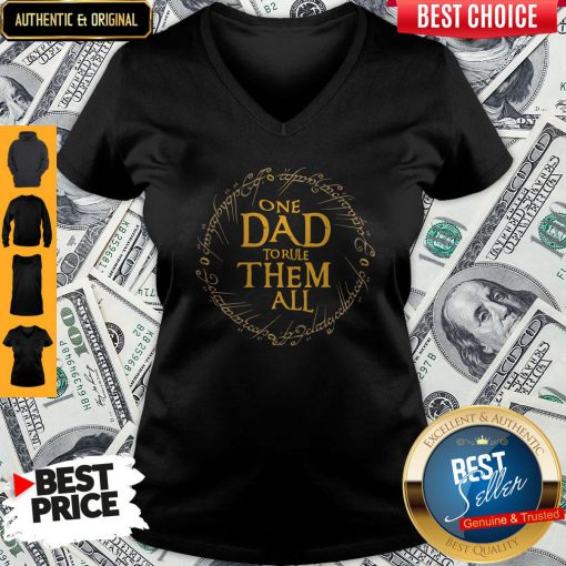 Premium One Dad To Rule Them All V-neck