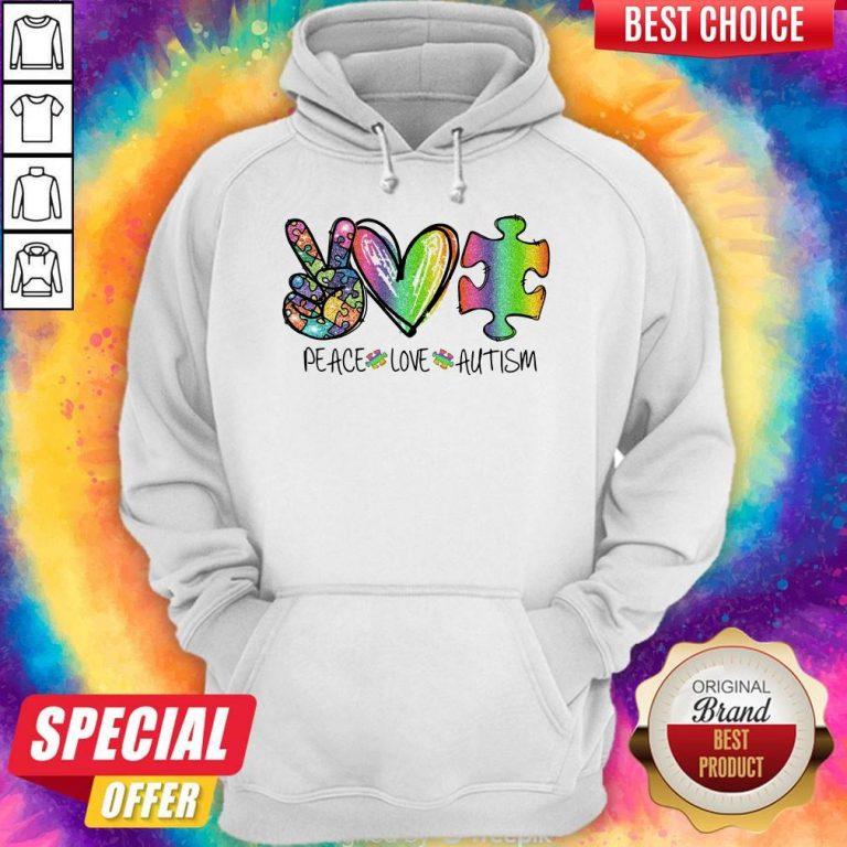 Premium Peace Love Autism Hoodie