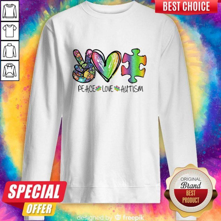 Premium Peace Love Autism Sweatshirt