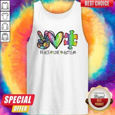 Premium Peace Love Autism Tank Top