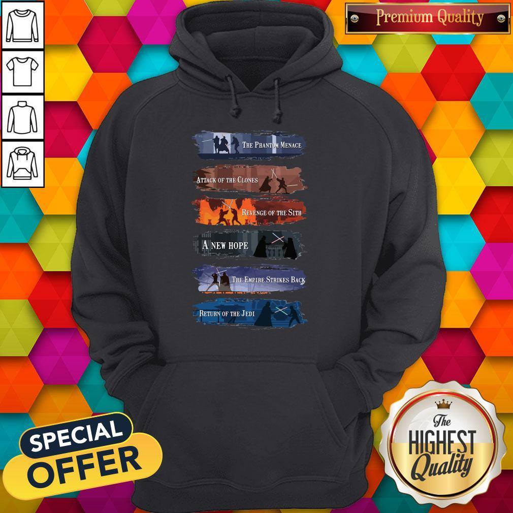 Premium Star War The Phantom Menace Attack Of The Clones Revenge Of The Sith A New Hope Hoodie