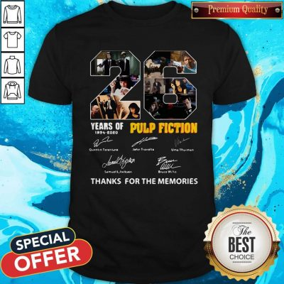 Top 22 Years Of 1994 2020 Pulp Fiction Thank You For The Memories Signatures Shirt