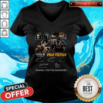 Top 22 Years Of 1994 2020 Pulp Fiction Thank You For The Memories Signatures V-neck