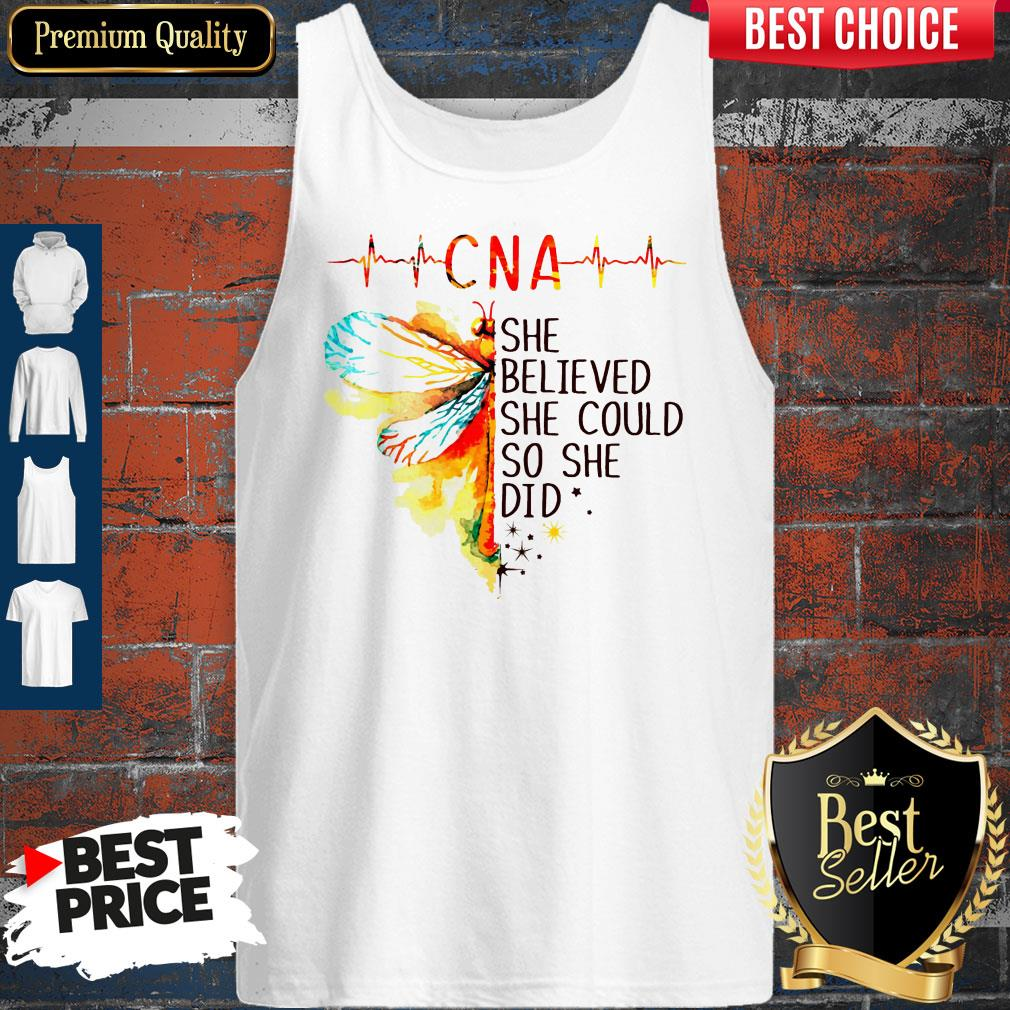 Top CNA She Believed She Could So She Did Tank Top
