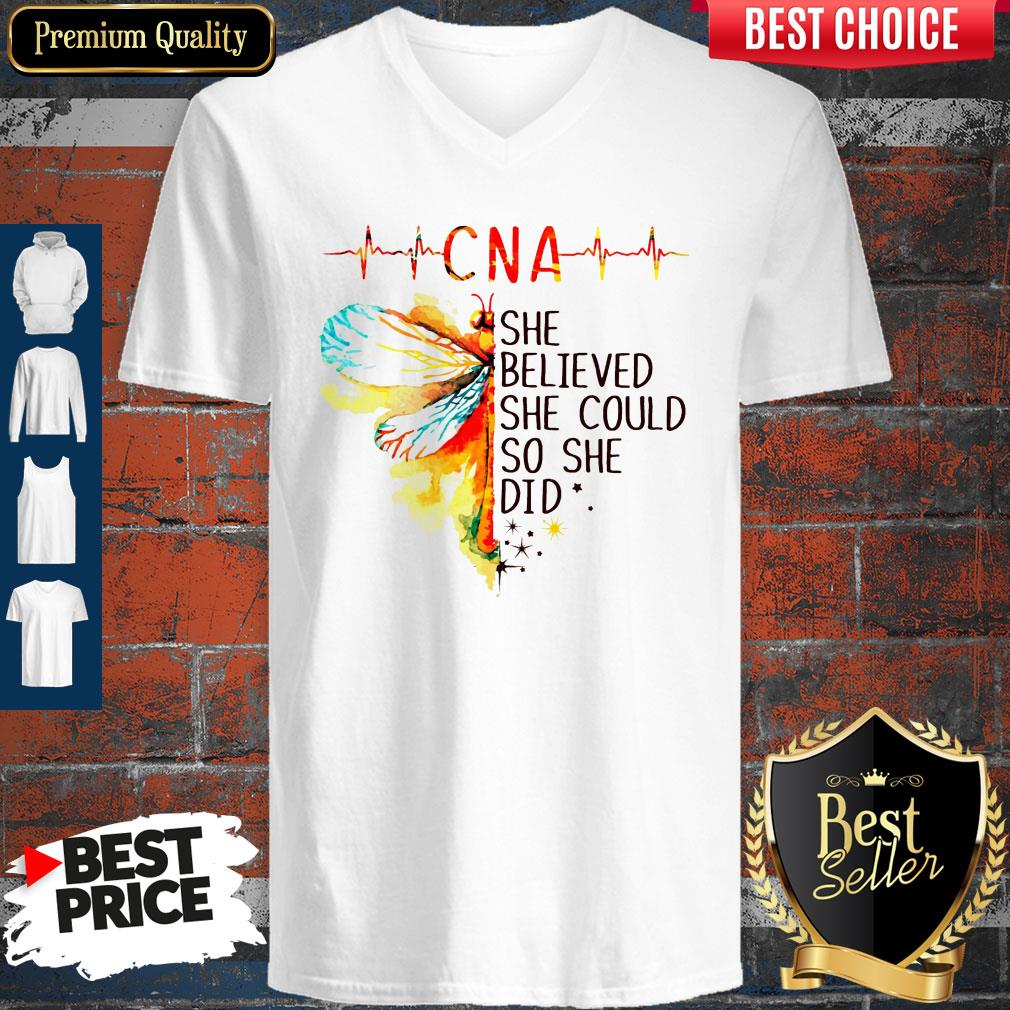 Top CNA She Believed She Could So She Did V-neck