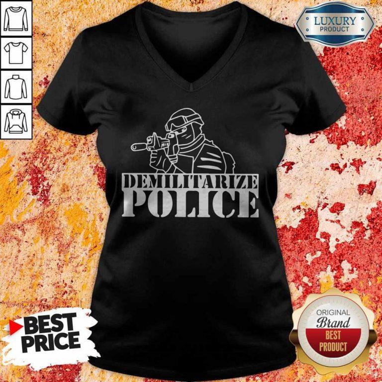 Top Demilitarize Police V-neck