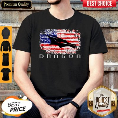 Top Dragon Space American Flag Vintage Shirt